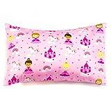 1 Pink Pillowcase, Princess Print Pillow Cover