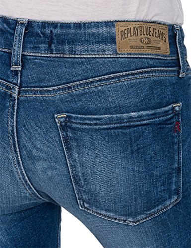 Mid Raissa Denim 9 REPLAY Vaqueros para Blue Mujer Azul Skinny Oq16xf