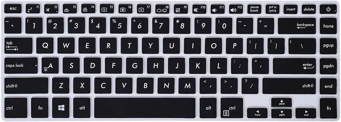 """Keyboard Cover for ASUS VivoBook F510UA 15.6 inch FHD Laptop/ F510UF / ASUS VivoBook S S510UA S510UN S510UQ 15.6"""" Laptop, Black"""