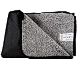 Hualite Pet Mat, Waterproof Portable Pet Blanket Snuggle Comfort Sleeping Mat for Dog Cat Travel Outdoor and Indoor with Storage Bag (Black)
