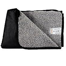 Hualite Pet Mat, Waterproof Portable Pet Blanket Snuggle Comfort Sleeping Mat for Dog Cat Travel Outdoor and Indoor with Storage Bag (Black)
