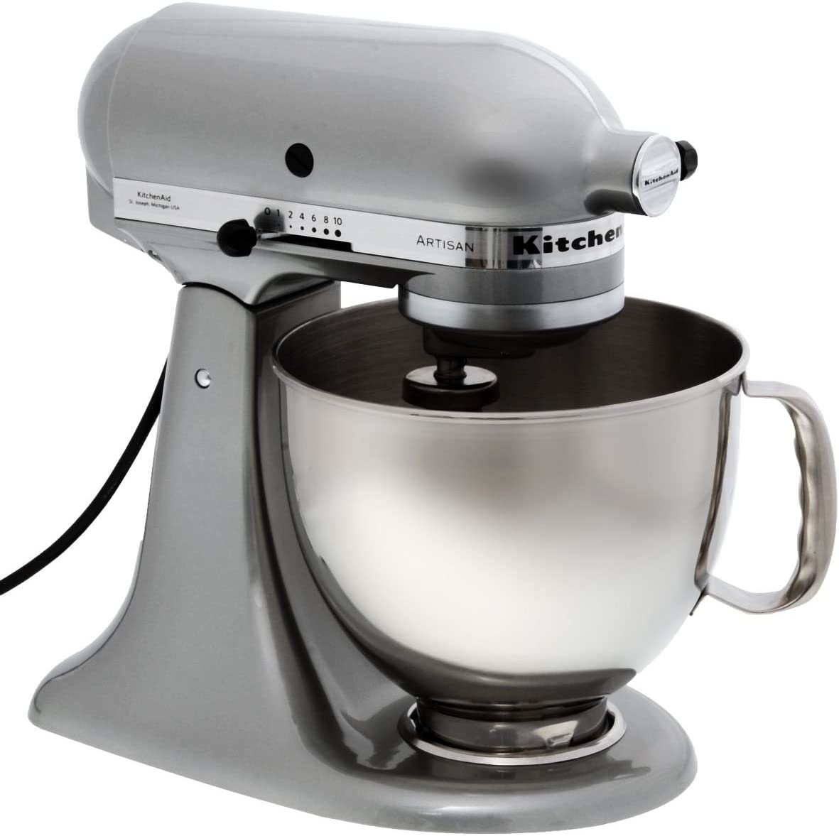 KitchenAid 5KSM150PSEMC Robot De Cocina, 300 W, Acero Inoxidable, 10 Velocidades, Cromo: Amazon.es: Hogar