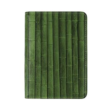 Amazon Com Bamboo Stick Green Vertical Leather Passport