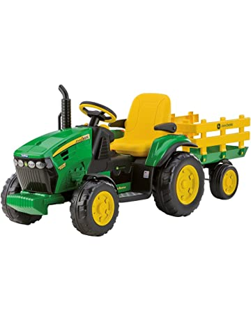 Peg Perego OR0047 - John Deere, tractor eléctrico con remolque, 12V
