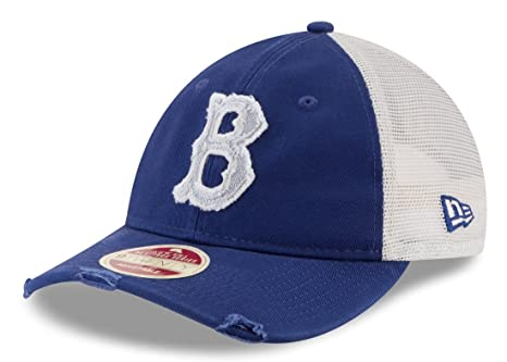 d545745bb2b4c Image Unavailable. Image not available for. Color  New Era Brooklyn Dodgers  MLB 9Twenty Cooperstown Frayed Twill Mesh Back Hat