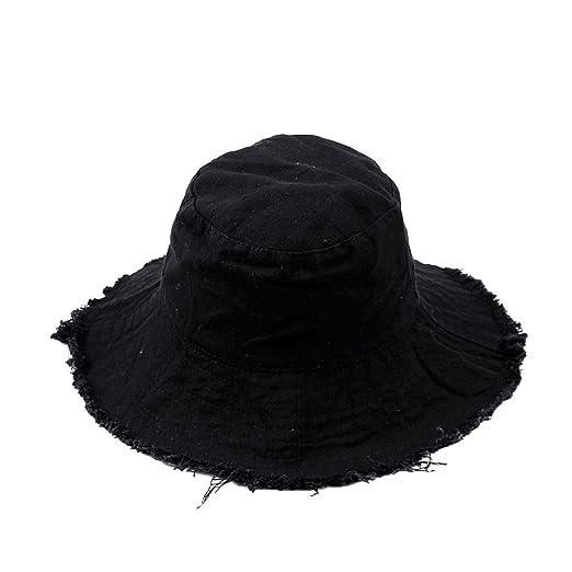 cc20f4418 SUMBAGO Bucket Hat for Women Men Cotton Unisex Denim Sun Hats with ...