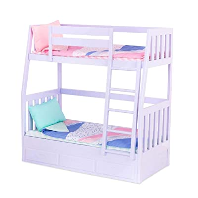Our Generation Bunk Beds for 18 Dolls Lilac Purple Dream Bunks: Toys & Games