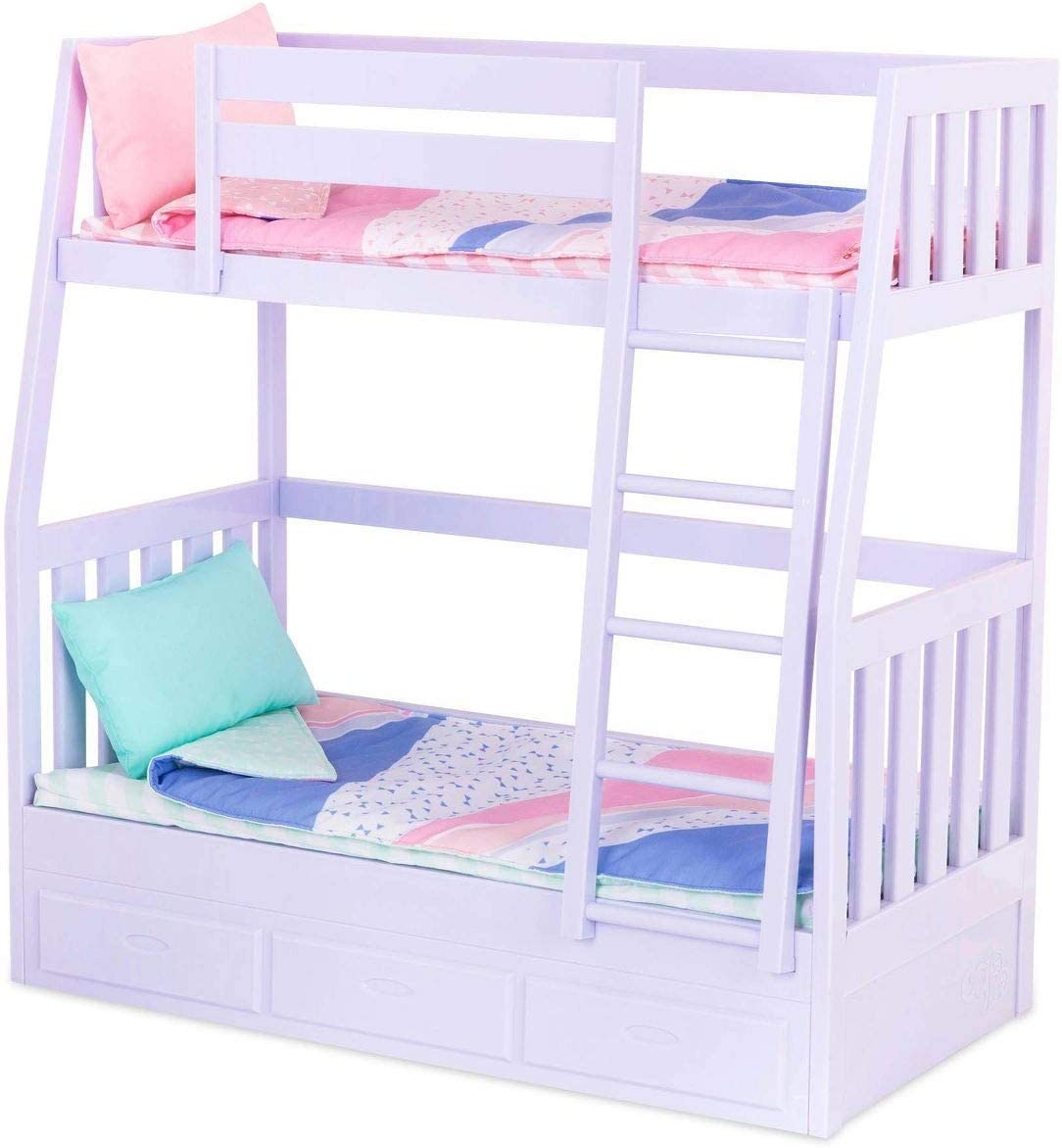 Our Generation Og Bunk Bed Lilac Colours 44925 Amazon De Spielzeug