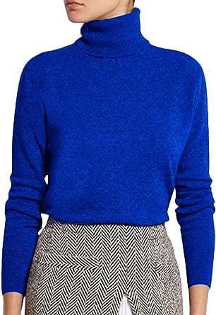 Tomwell Mujeres Otoño Invierno Suelto Suéter de Punto Jerséis de Cuello Alto Manga Largo Cálido Prendas Pullover Jerseys Tops