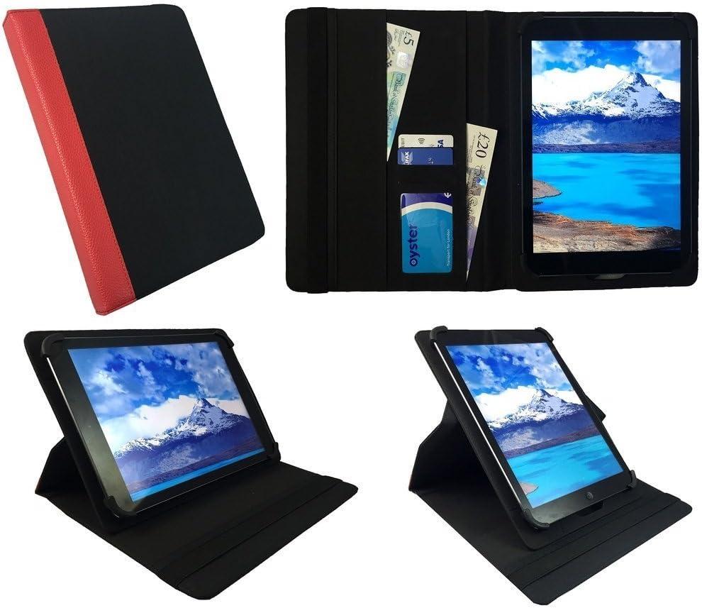 Denver TAQ-90052 9 inch Tablet Blau mit Schwarzer Trimmen Universal 360 Grad Drehung PU Leder Tasche Schutzh/ülle Case von Sweet Tech 9-10 zoll