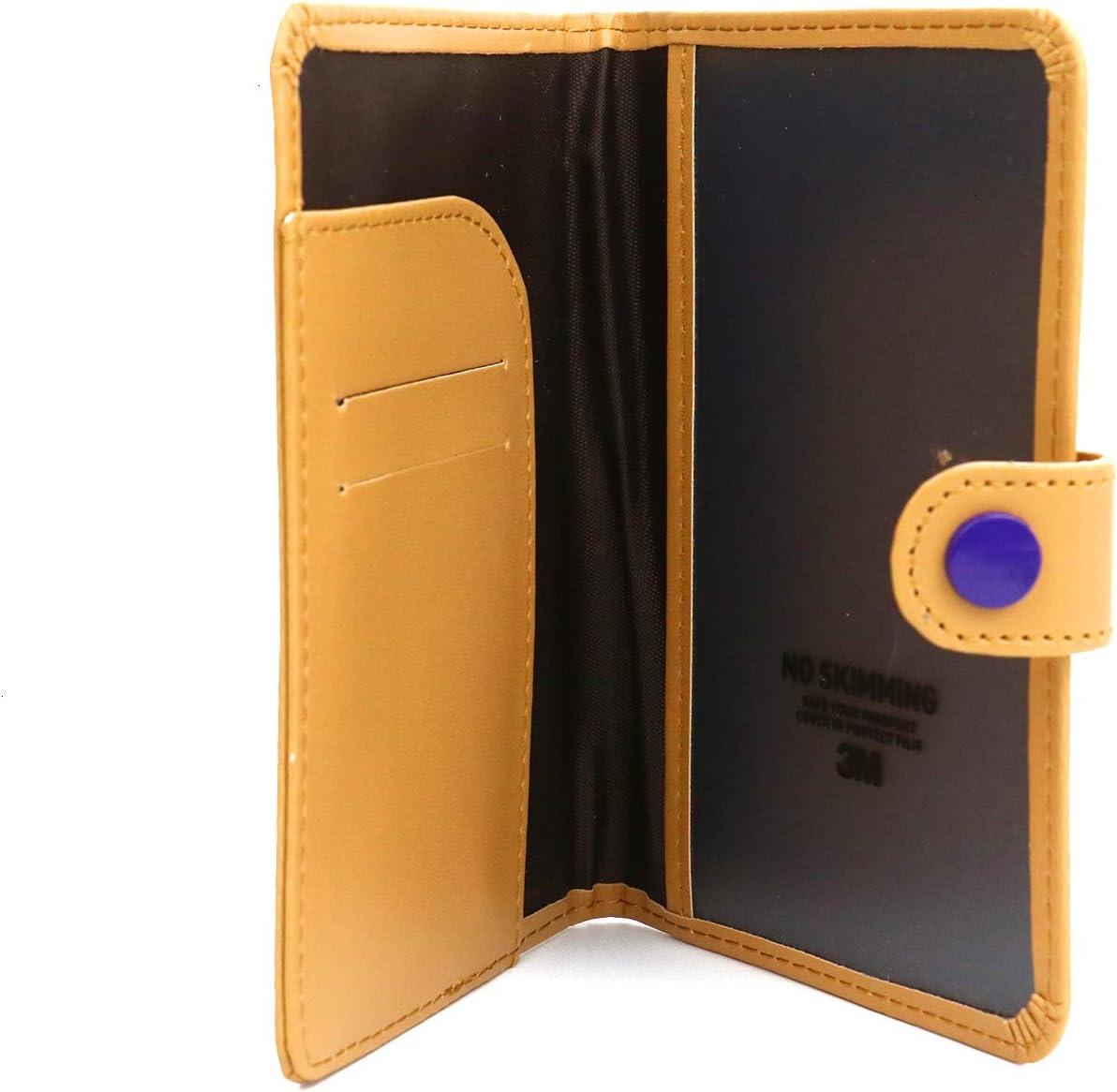 JETEHO Blocking Genuine Passport Wallet Cover Travel Case for Women /& Men