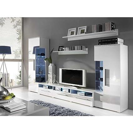 JUSThome ROMA Parete da soggiorno Parete attrezzata Colore: Bianco ...