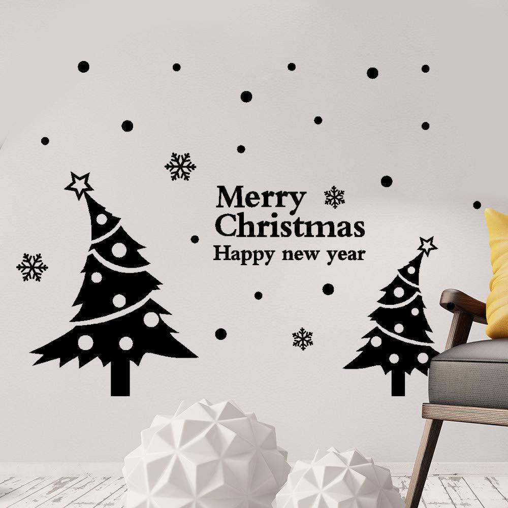 Frasi Adesive Murali Topgrowth Buon Natale Wall Sticker Decorazione Murali da Parete Casa Negozio Finestra Decorazioni Pareti YJL80910774WH