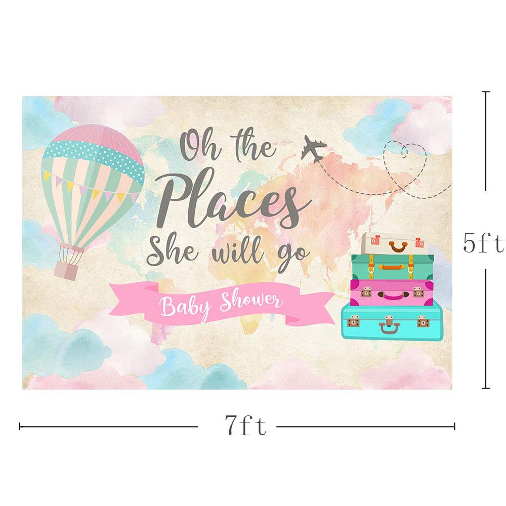 S Oh the Places He Will Go Announcement Custom Graduation Invitation