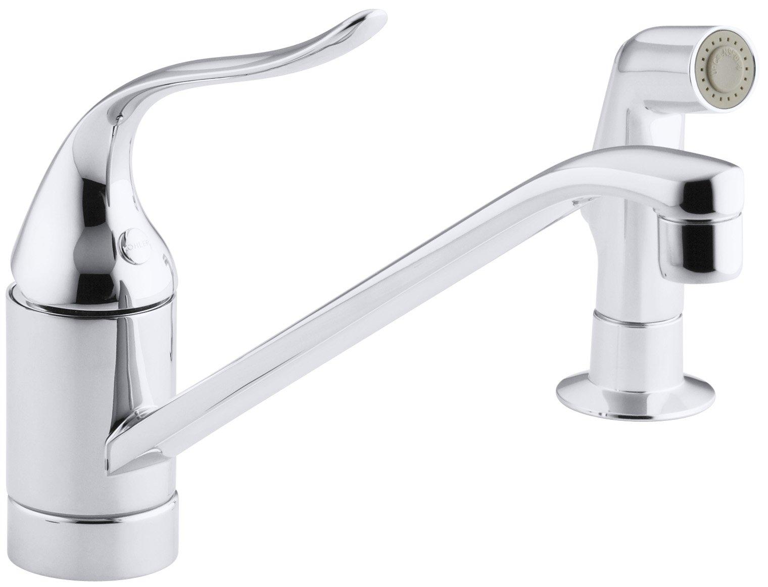 KOHLER K-15176-PT-CP Coralais Single Control Kitchen Sink Faucet, Polished Chrome