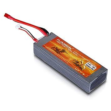 Floureon - Batería Li-Polymer (7.4V, 5200mAh, 30C, Deans, para ...