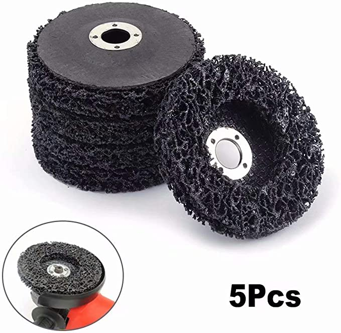Paint Flaking Material Removal Disc 5pc 4.5 in Polycarbide Abrasive Wheel Rust