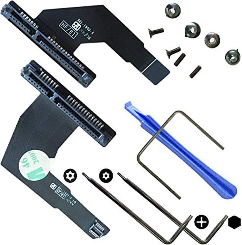 OLVINS Disco Duro Cable 821-1501-A 821-1500-A Kit de actualización SSD para Mac Mini A1347 2012 Año