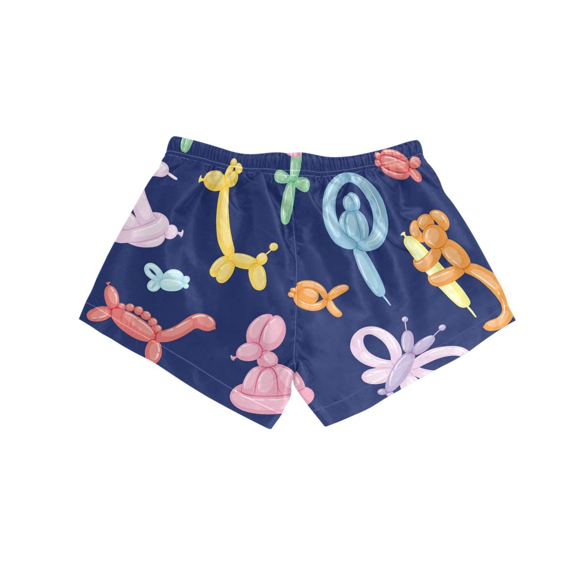 Women Swim Trunks Balloon Animal Dog Flower Candy Snakes Beach Board Shorts