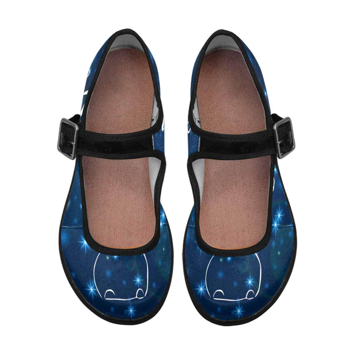 INTERESTPRINT Womens Slip-Resistant Mary Jane Flats for Dr Happy New Year Scholls Merry Christmas
