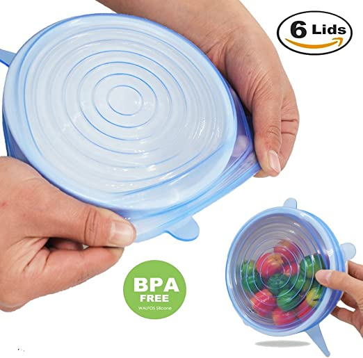 Reusable Silicone Wrap Bowl Stretch Lid Grip Food Fresh Keeping Sealer Cover WE