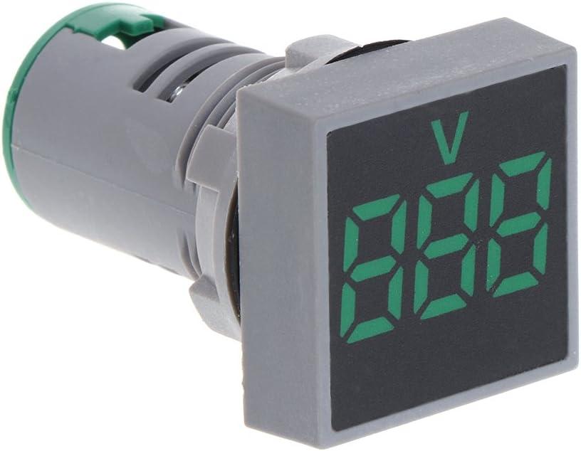 FXCO Voltm/ètre Tableau daffichage rectangulaire pour tensiom/ètre num/érique 22 mm AC 12-500 V blanc
