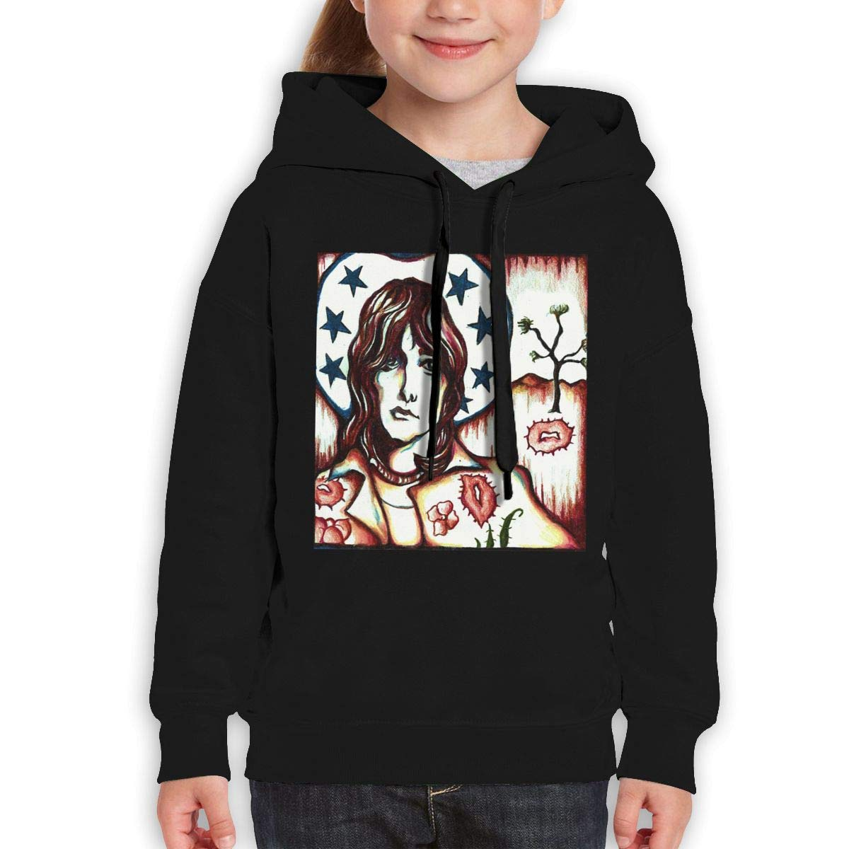 Guiping Gram Parsons Joshua Tree Teen Hooded Sweate Sweatshirt Black