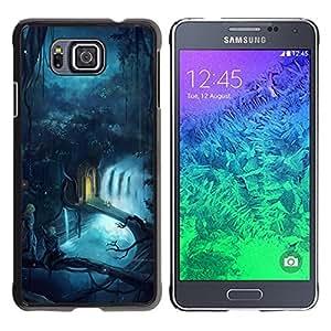 TECHCASE**Cubierta de la caja de protección la piel dura para el ** Samsung GALAXY ALPHA G850 ** Fairytale World Magic Blue River Forest