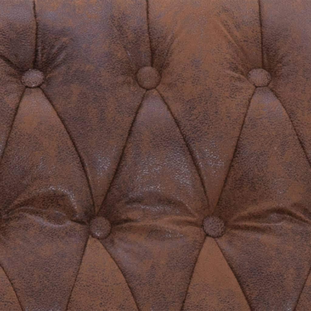 Festnight Fauteuil de Massage Fauteuil de Relaxation /électrique Inclinable Brun Similicuir Daim