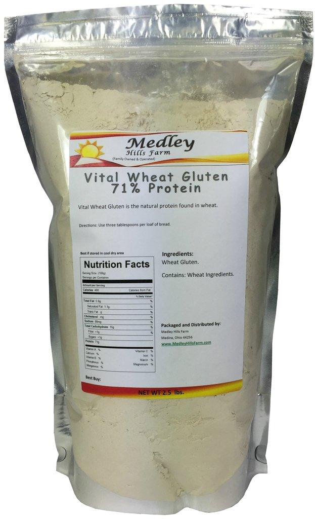 Medley Hills Farm Vital Wheat Gluten 71% Protein 2 5 lbs