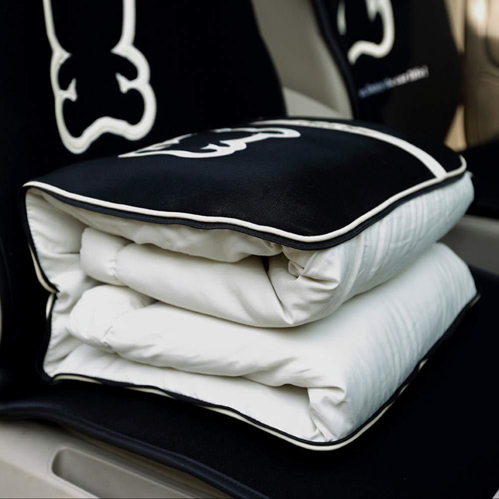 XZDXR Kissen Quilt Dual-Use-Auto Kissen Klimaanlage ist Vier Jahreszeiten Universal Winter Klappkissen von schwarzen Cartoon-Bären