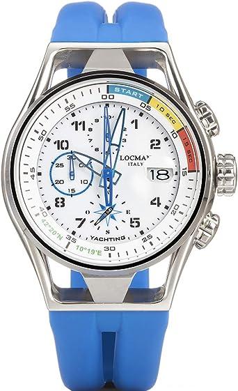Orologio cronografo uomo locman montecristo trendy cod. 0539a08s-00whskss