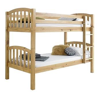 Happy Beds American Solid Honey Pine Wooden Bunk Bed Frame Bedroom Home Sleep