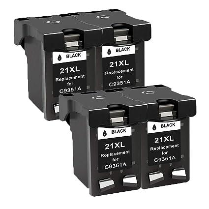 Teng® 21XL 22XL - Cartuchos de Tinta remanufacturados HP 21 22 Cartuchos de Tinta compatibles con HP Deskjet F4180 F2280 F380 F2180 D2460 D2360 3940 ...