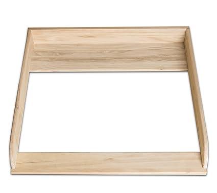 Madera natural. Cambiador, cambiador de mesa para IKEA Hemnes (sin apósito)