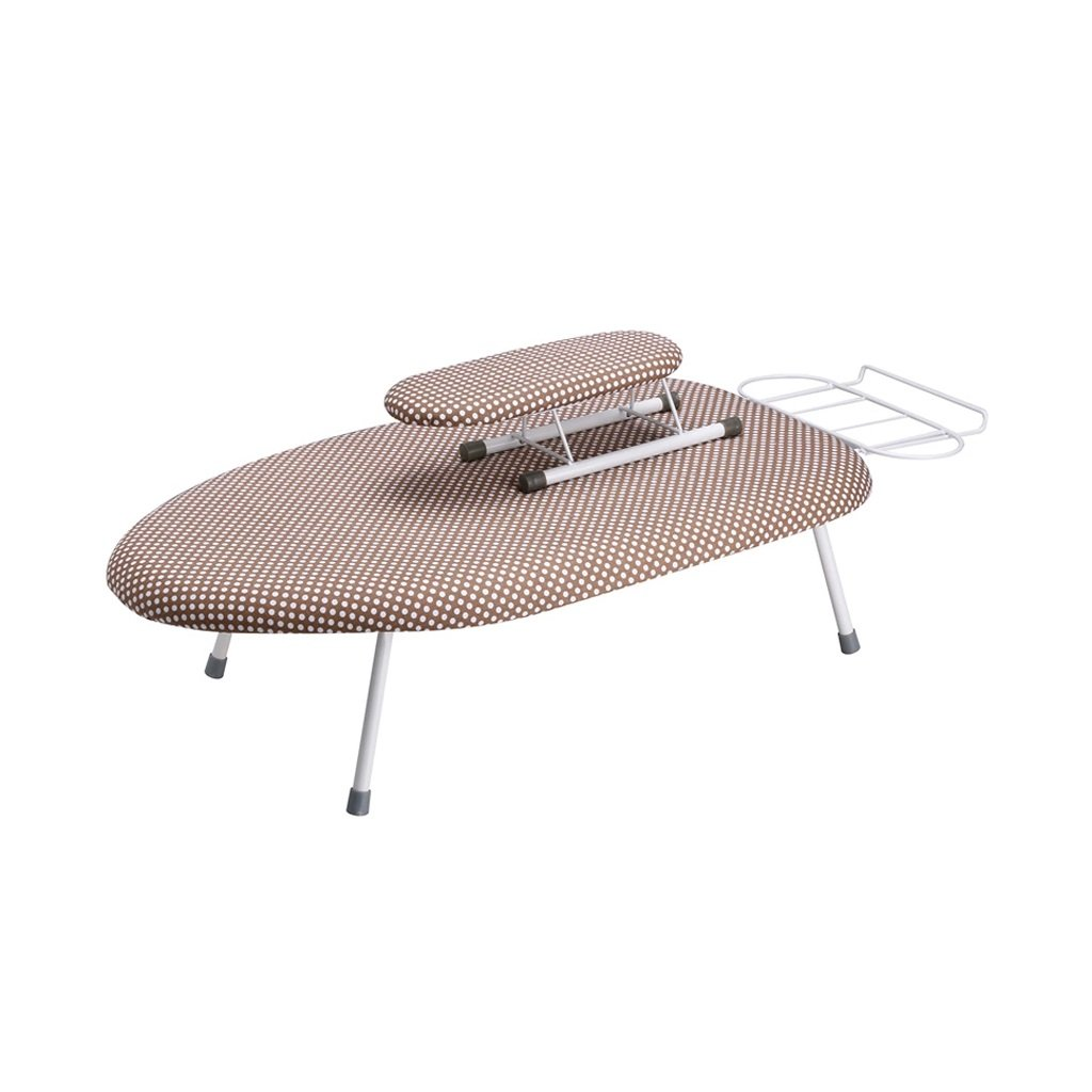 Ironing Board WAN SAN QIAN- Household Essentials Extra Wide Top 4-Leg Natural Cotton Cover And Iron Holder Stand (Color : Pattern b)