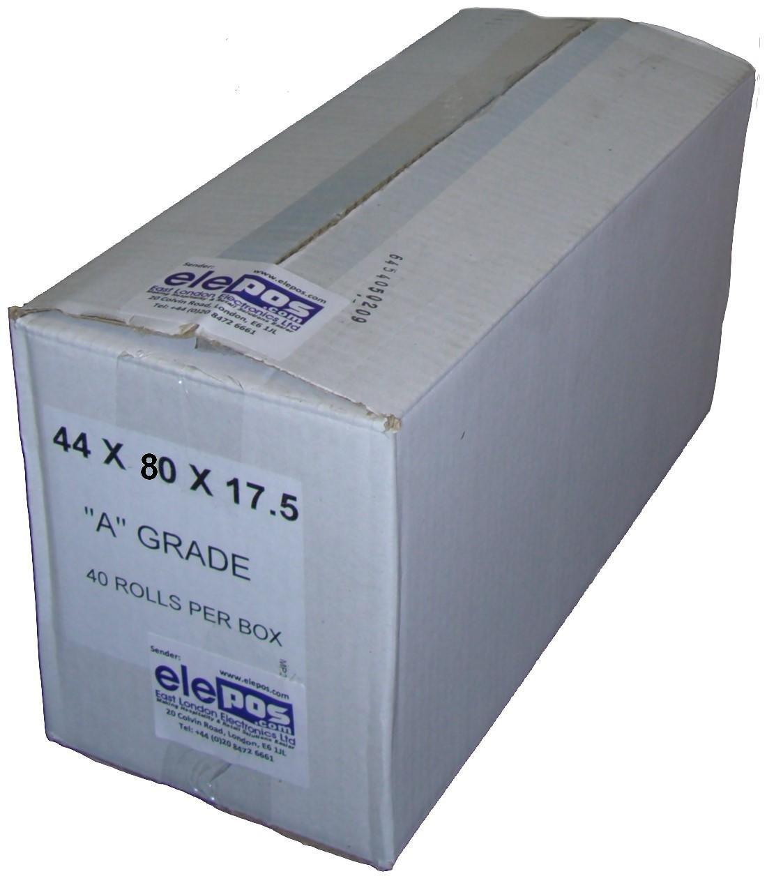 44 mm x 80 mm A Grade Till Rolls (40 Rolls) Generic