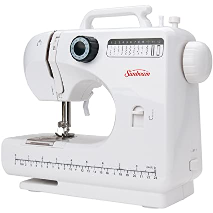 Amazon Sunbeam SB400 Compact Sewing Machine 40 Step Button Best Button Sewing Machine