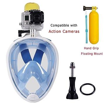 Máscara de snorkel, con vistas al mar de 180 grados del buceo con escafandra de