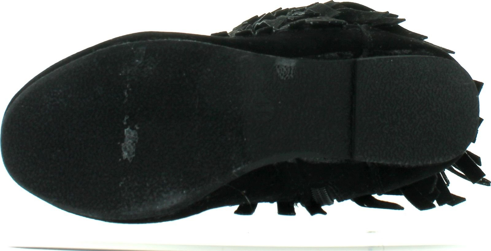 I LOVE KIDS Ava-18K Children's 3-Layers Fringe Moccasin Style Mid-Calf Boots,Black,13 by I LOVE KIDS (Image #4)