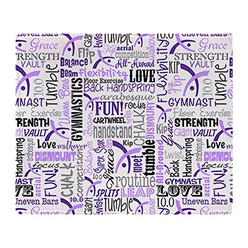 CafePress Gymnastics Messenger Blanket Stadium