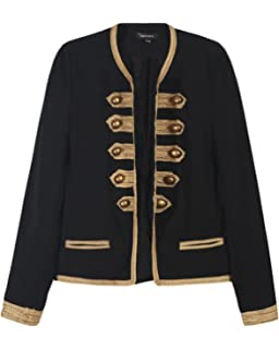 Goth Steampunk Punk Style Military Marching Band Drummer Uniform Jacket Top