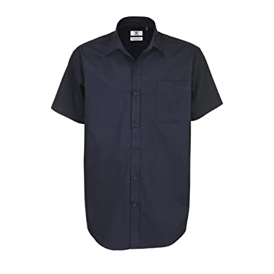 BC Footwear B&c Mens Sharp Short Sleeve Shirt Camisa de Oficina ...