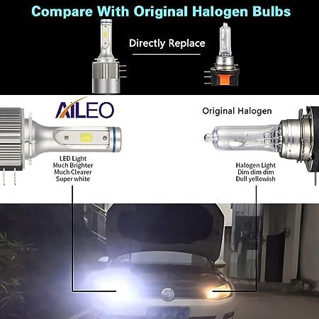 H//L 60W 6000K Aluminum Alloy Fanless LED Car Headlight Bulbs Headlamp Senyar 2pcs Car Light,12V H15
