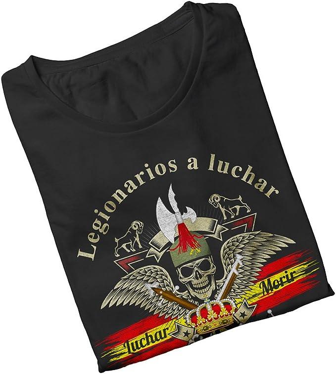 ALBERO Camiseta Negra Legión Española Blue Line Soy El Novio de la ...
