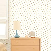 RoomMates Gold Dot Peel and Stick Wallpaper