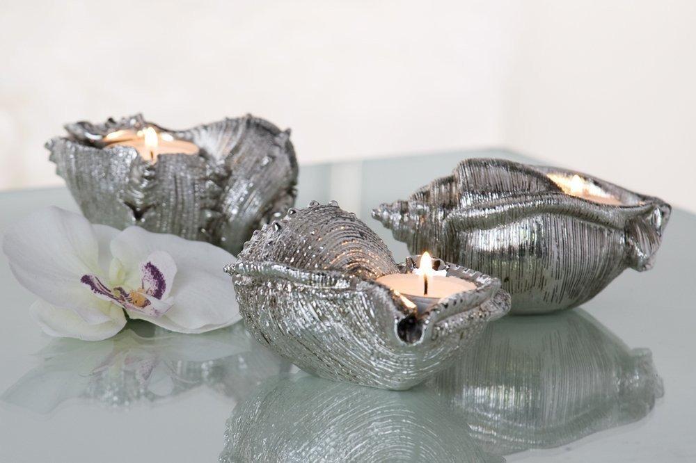 Amazon.de: Muschel Leuchter Seashell 3er Set Badezimmer Dekoration Teelicht Deko  Für Bad