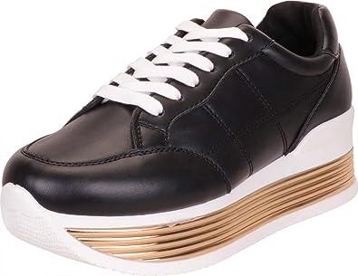 Striped Chunky Platform Fashion Sneaker