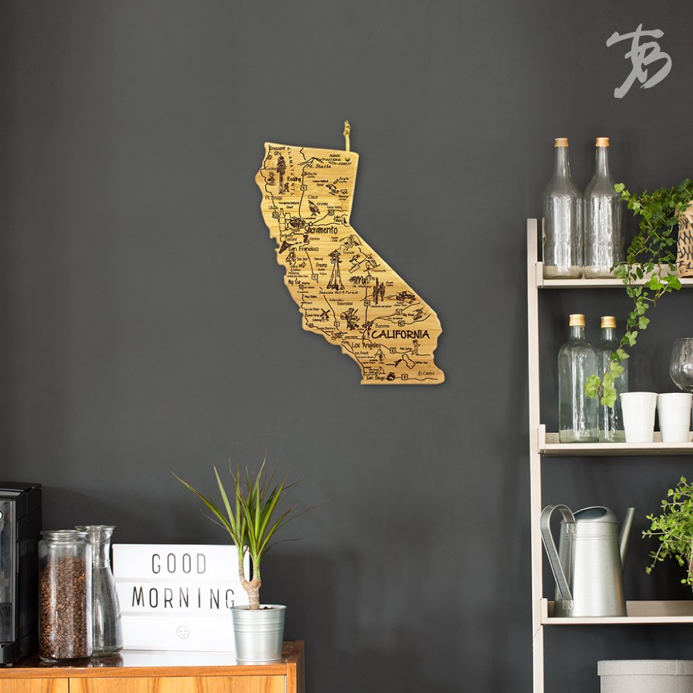 Totally Bamboo California State Destination Bamboo Serving and Cutting Board by Totally Bamboo (Image #7)