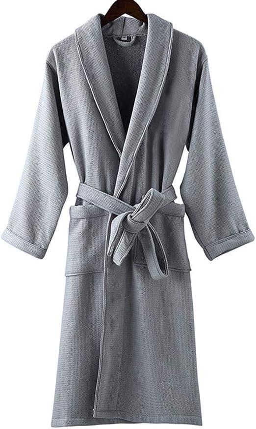 Albornoz 100% AlgodóN Terry Toalla Waffle Weave Kimono Albornoz ...